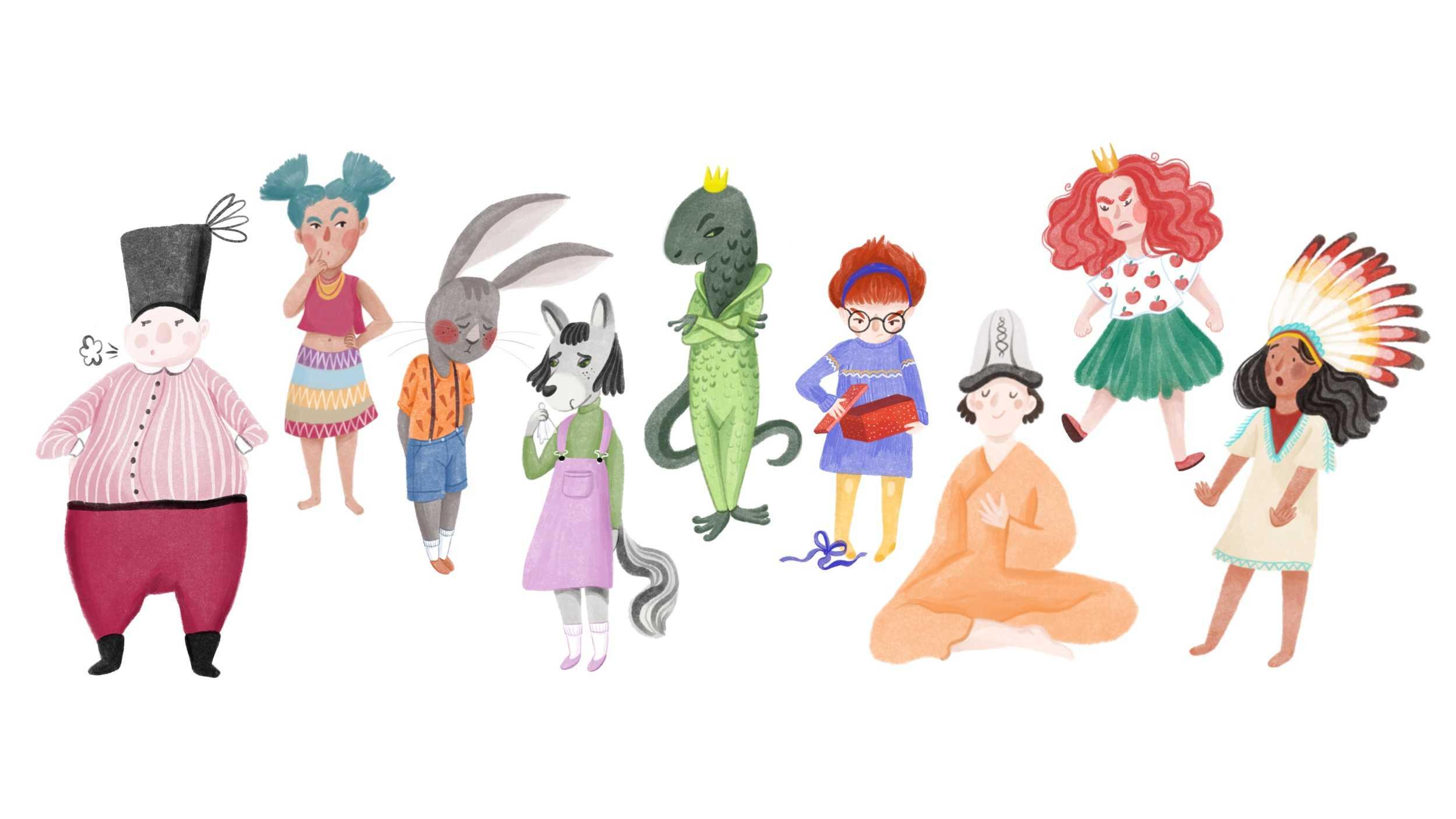 Ilustracja do bajki postacie