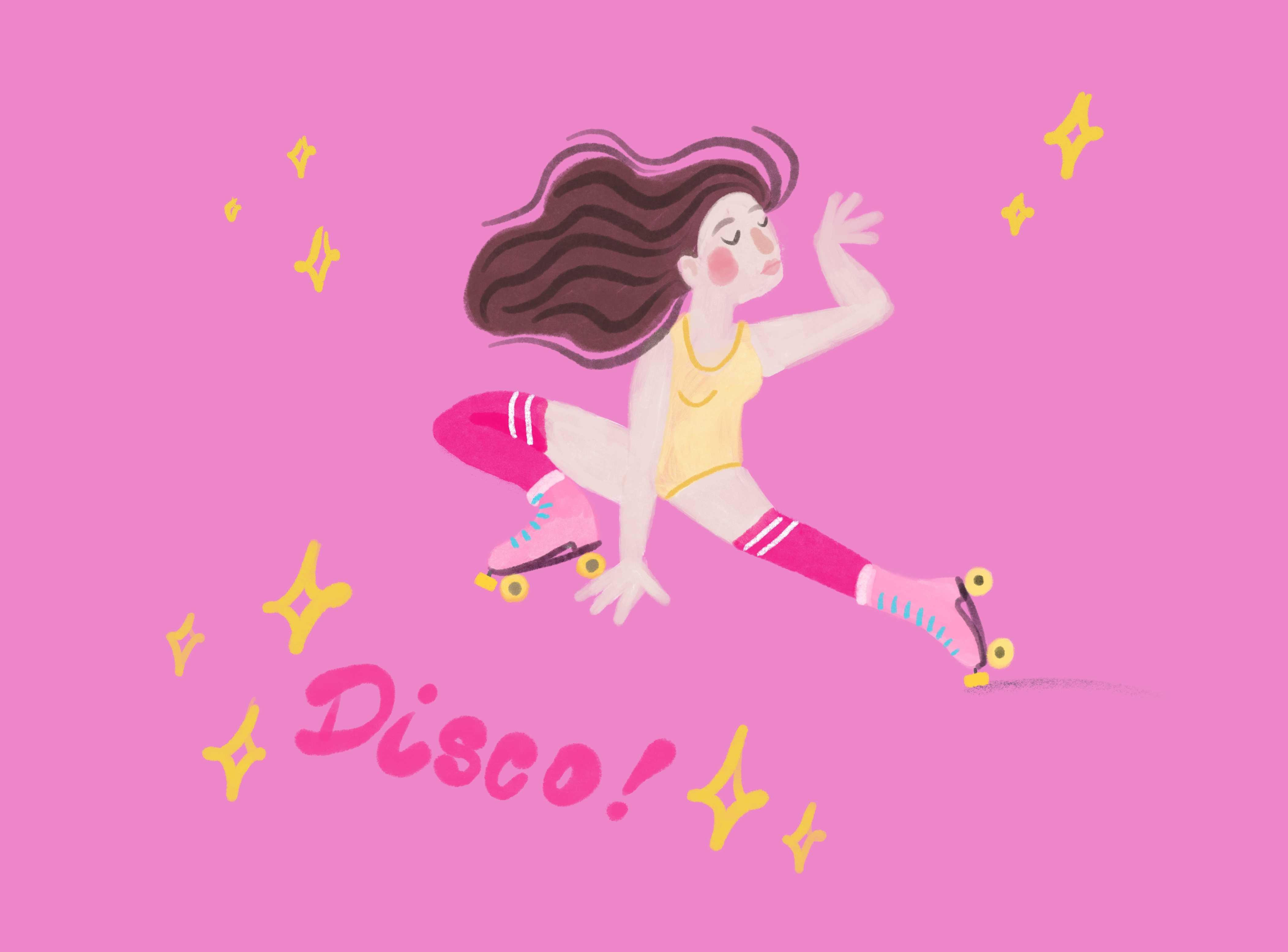 Ilustracja disco taniec