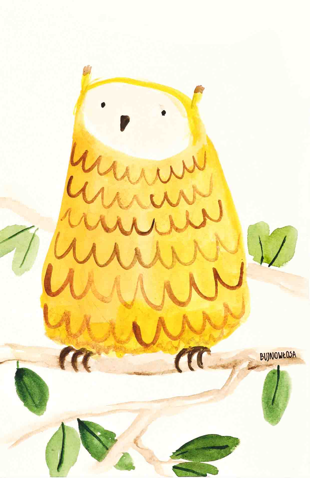 Ilustracja dziecięca sowa