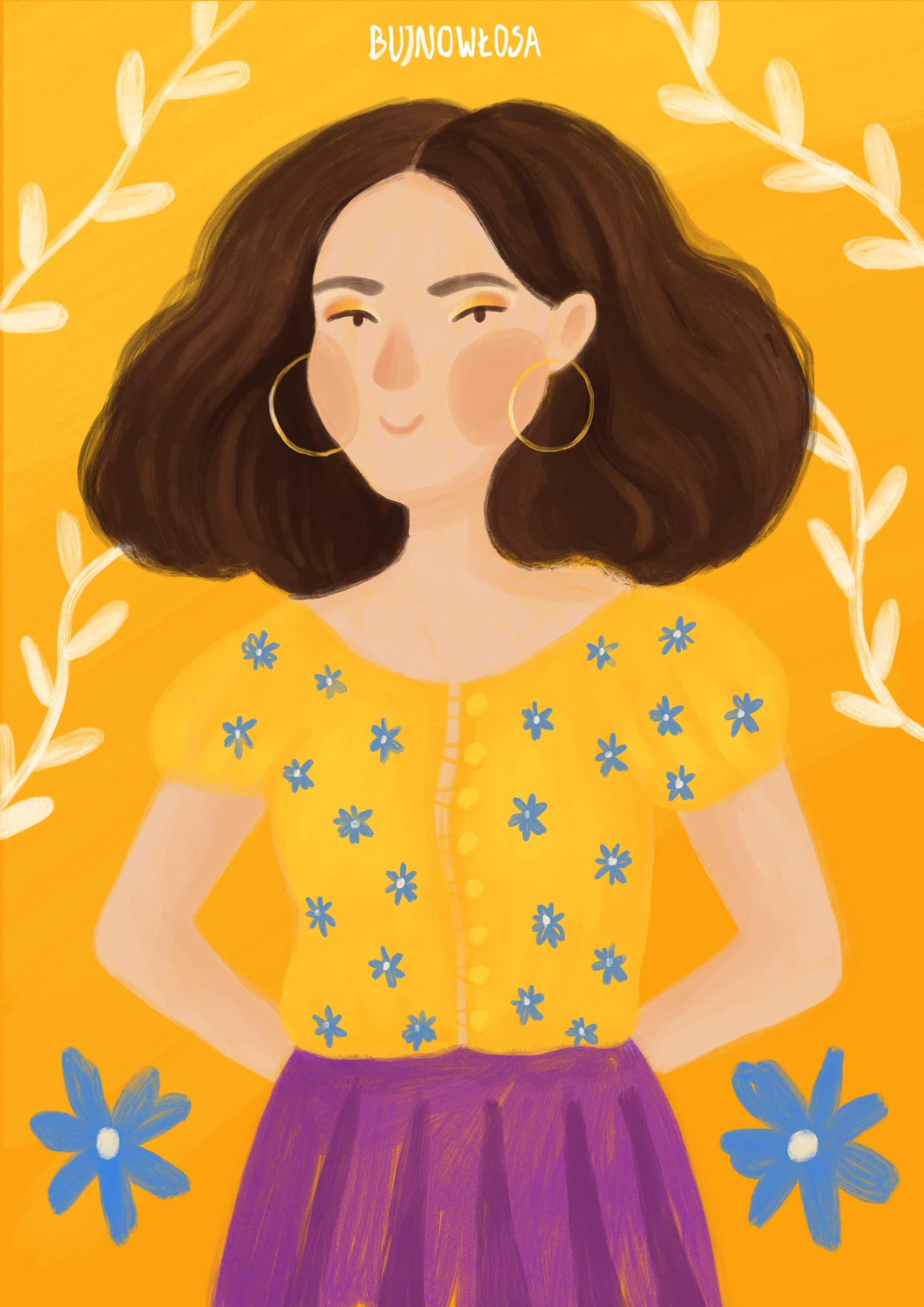 Portret dziewczyny personalizowany