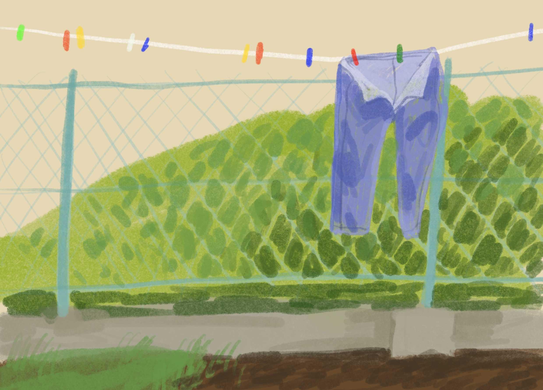 ilustracja cyfrowa prania