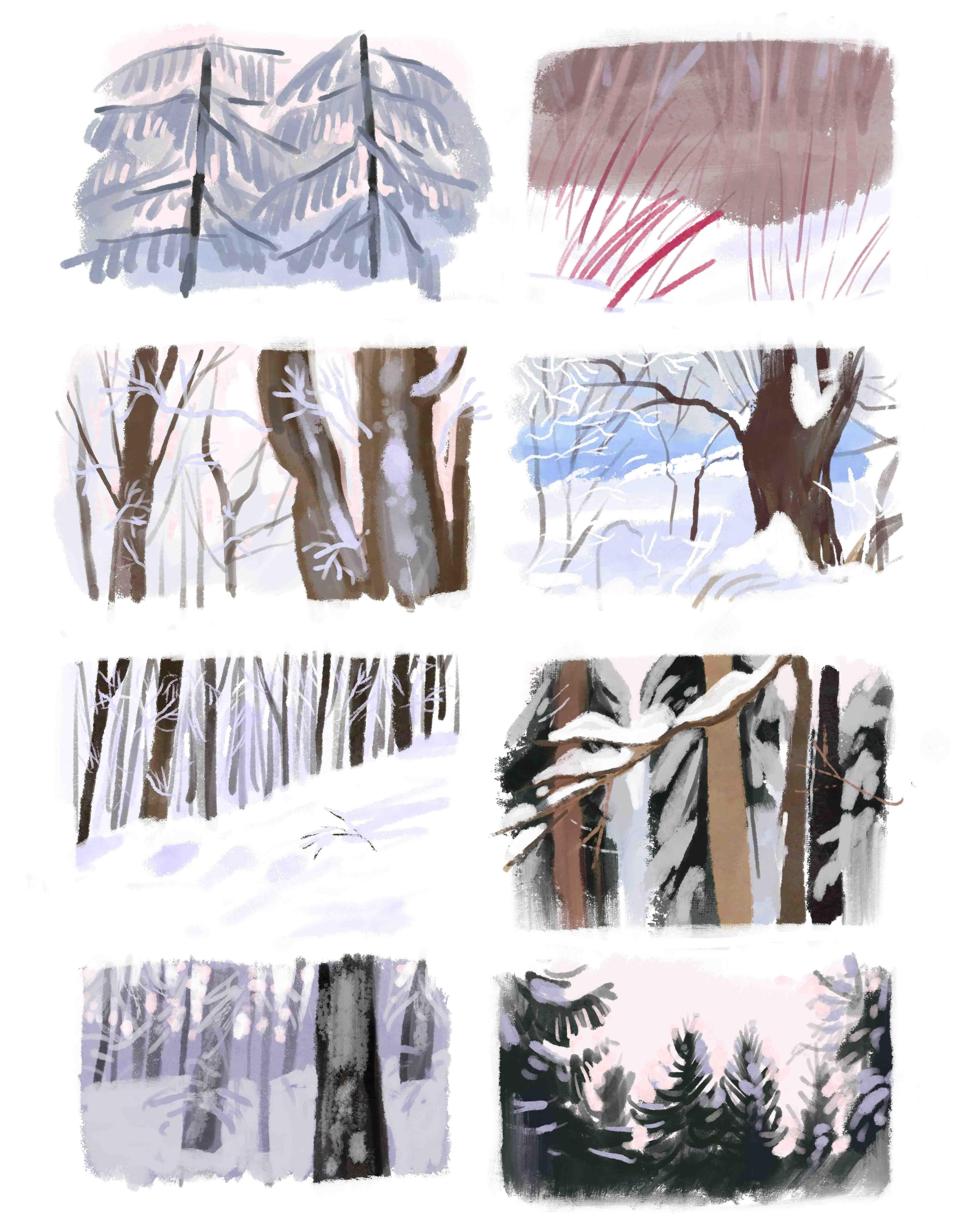 zimowa ilustracja cyfrowa