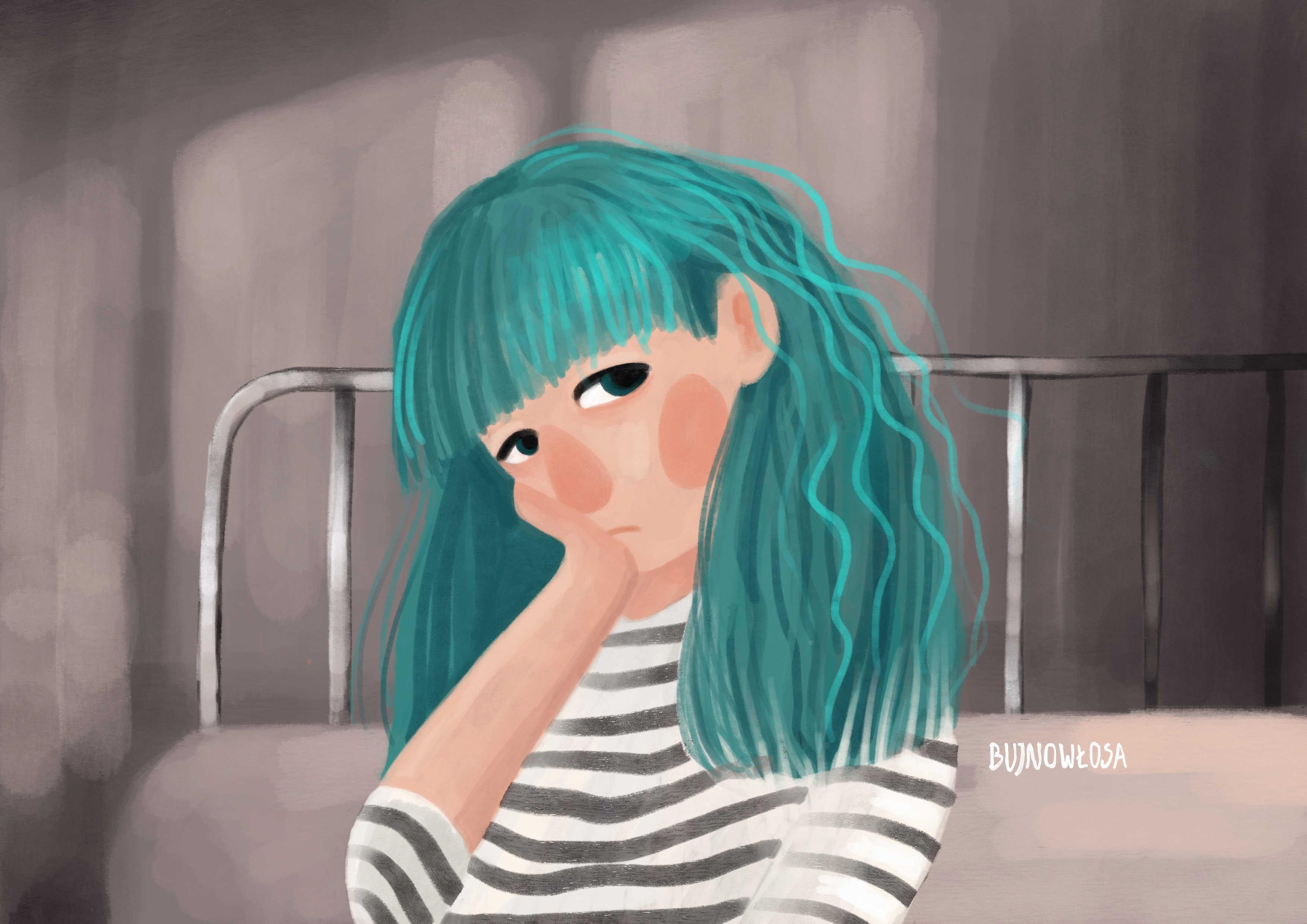Ilustracja dziewczynki personalizowana