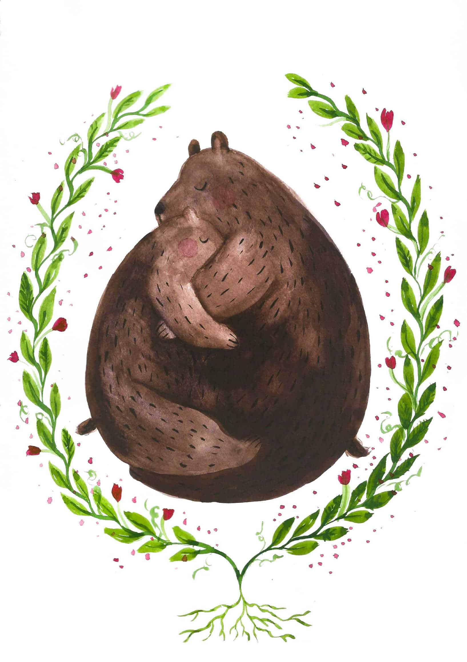 Ilustracja akwarelą walentynkowa