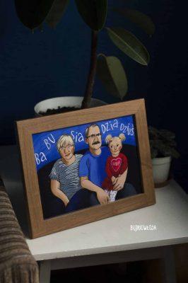 portret na zamówienie dla dziadków