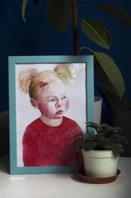 portret dziewczynki na zamówienie