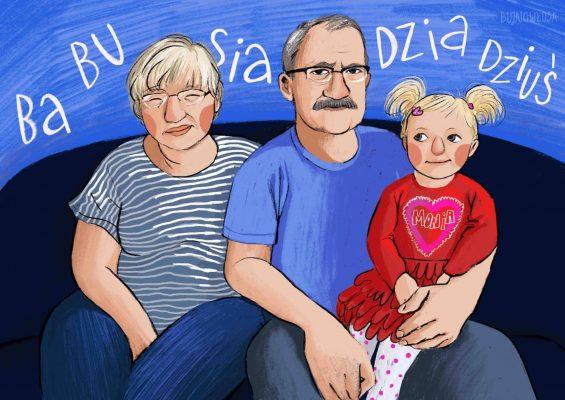 portret dziadków personalizowany